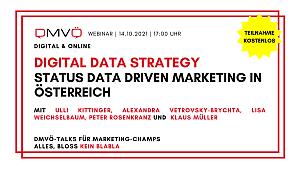 """DMVÖ Talk und Studienpräsentation """"Digital Data Strategy – Status data driven marketing in Österreich"""""""